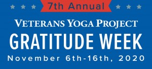 Veterans Yoga Project Gratitude Week